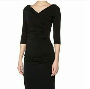 Catherine Malandrino Celine Ruched Black Dress